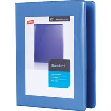 "Staples 1"" Standard 5-1/2"" x 8-1/2"" Mini View Binder w/Round Rings Periwinkle"
