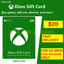 $20 XBOX Live $20 USD Gift Card - Microsoft XBOX ONE and 360 - USA ONLY