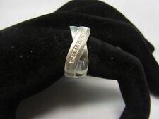 925er Silber Damenring Von Fossil Große 59,5 Gewicht 11,3 Gramm