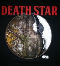 STAR WARS Official REALTREE Camo DEATH STAR Adult T-Shirt Size L Large NEW