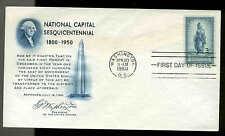 U.S. FDC #989 Fulton Cachet Washington, DC National Capital -- Unaddressed