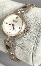Badavici Ladies Watch - Sterling Silver Sapphire Crystal Band 22.7g SIGNED KV