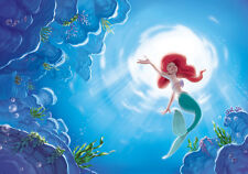 368x254cm Disney Wall mural Wallpaper Ariel The Little Mermaid girl's room deco