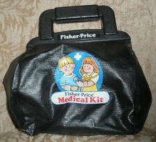 FISHER PRICE MEDICAL KIT 1987 Bag with 5 Items Inside For Collectors