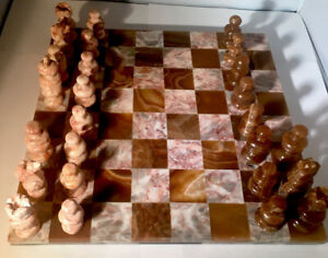 Mexican Onyx Chessboard Parts
