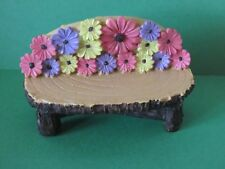 New Miniature Resin Mini Bench With Colorful Flowers