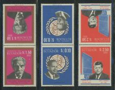 Ecuador 1966 Famous Men se-tenant set Sc# 753-53D NH