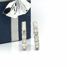 Diamond Hoop Earring 14k White Gold Natural