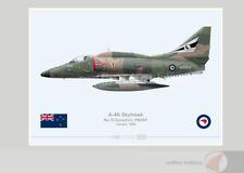 Warhead Illustrated A-4K Skyhawk 75 Sqn RNZAF 6202 Aircraft Print