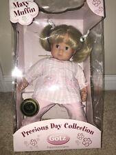 Gotz Precious Day Collection Maxy-Muffin Doll 16.5 in blonde hair/blue eyesW/Box