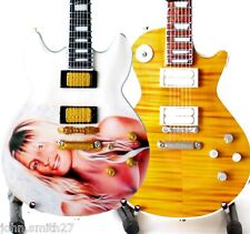 Joe Perry Aerosmith Billy Perry and Boneyard Set of 2 Miniature Guitar