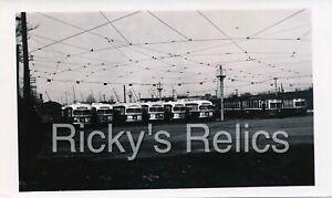 B&W Photo SLPS PCC/Streetcars St. Louis Public Service 1950s Yard