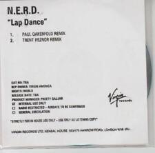 N*E*R*D: Lap Dance Remixes PROMO w/ Artwork MUSIC AUDIO CD NERD Oakenfold Reznor