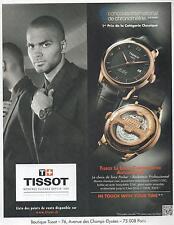▬► PUBLICITE ADVERTISING AD Montre Watch TISSOT Le locle Tony Parker