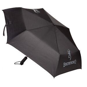 Browning Travel Umbrella, Buckmark Black & Gray