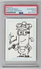 Chris Renaud Despicable Me Pets Signed Art Card W/ Original Sketch PSA/DNA (B)