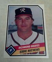 EDDIE MATHEWS 1989 TCMA CMC RICHMOND BRAVES MINOR LEAGUE CARD # 10 A1927