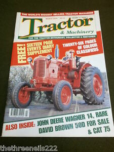 TRACTOR & MACHINERY - JOHN DEERE WAGNER 14 - MARCH 2004 VOL 10 # 4