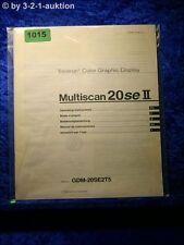 Sony Bedienungsanleitung GDM 20SE2T5 Multiscan 20SEII Graphic Display (#1015)