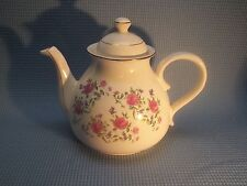 4-cup Teapot - Maker Unknown - Pink Roses and Purple Morning Glories