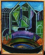 Algot Gäwerth 1924-1999, Stadtkomposition, verso datiert 1963