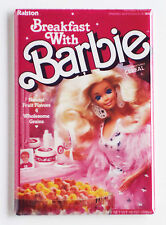 Breakfast With Barbie FRIDGE MAGNET (2 x 3 inches) cereal box 80's doll