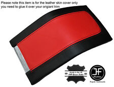BLACK & RED LEATHER ARMREST COVER FITS FORD MUSTANG 2010-2014