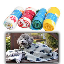 Pet Dog Cat Puppy Kitten Soft Blanket Doggy Warm Bed Mat Paw Print Cushion Towel