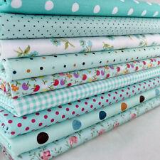 9pcs 20cm*25cm DIY Blue Cotton Fabric Patchwork Batiks Mixed Bundle Sewing Craft
