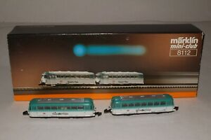 MARKLIN Z SCALE #8112 CHIEMGAU 2-CAR RAILBUS SET, EXCELLENT, BOXED