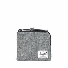 Herschel Supply Company JOHNNY ZIP WALLET PORTA CARTE DI CREDITO RAVEN Crosshatch