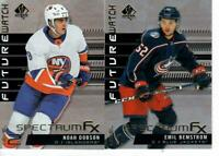19/20 LOT OF 2 SP AUTHENTIC FUTURE WATCH SPECTRUM FX DOBSON BEMSTROM