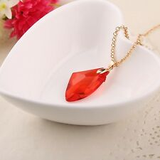 Harry potter magic crystal ruby pendant necklace