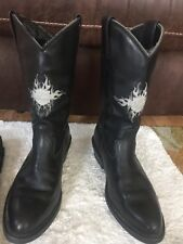 Harley-Davidson Men's Boots - Embossed Cowboy style.