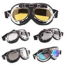 Vintage Helmet Goggles Anti-UV Windproof Glasses Eyewear Motorcycle Motorbike UK