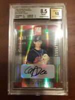 2002 Donruss Elite Autographs #237 Cliff Lee RC BGS 8.5 HOF? RARE!!! /25