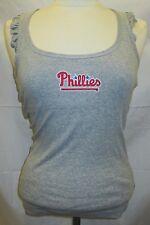 Philadelphia Phillies Women's XS Sports Bra Tank Top Shirt MLB Gray