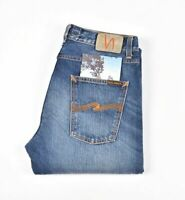 Nudie Jeans Steady Eddie True Classic Bleu Hommes Jean Taille 32/32