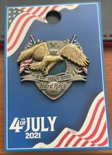 More details for hard rock cafe official pin badge usa 4th of july 2021 3d eagle
