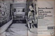 PUBLICITÉ 1964 SAVIEM-RENAULT LANCE 2 POIDS LOURDS S5 ET S7 - ADVERTISING