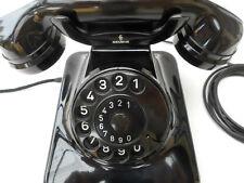 ALTES BAKELIT TELEFON +  Juli / 1956 + W 48 +  SIEMENS & HALSKE + volle Funktion