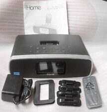 iHOME IP90 DUAL ALARM AM/FM CLOCK RADIO FOR IPHONE/IPOD (BLACK) - IP90BZ
