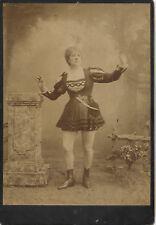 Photo cartonnée - Actrice Comédienne - Années 1880 / 1900 - Cartonnée - 25/17 cm