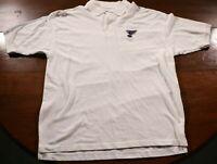 Vintage St. Louis Blues Polo Shirt XL White NHL Hockey