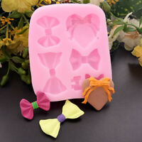 Bow Silicone Fondant Mold Cake Decor Chocolate Baking Mould Sugarcraft Tool DIY