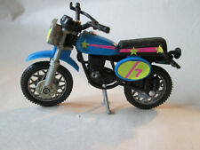 1970 Era Blue Diecast Motorcycle Motocross - Hong Kong (Very Nice Dirt Bike) #2