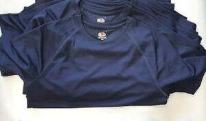 5X SMALL 61390 NAVY FRUIT OF THE LOOM SPORT PERFORMANCE T-SHIRT