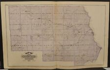 Minnesota Sterns County Maps or Engravings Special Purchase Dbl Sd1874 K15#46