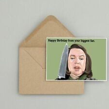 Recycled Hand Made Card Misery Inspired Birthday Card