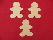 3 Gingerbread Men wooden 6mm thick MDF Wood blanks 12.5cm high